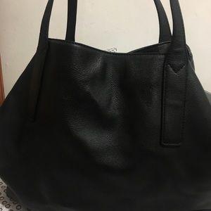 Black faux leather bag